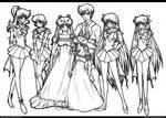 Sailor Senshi Lineart