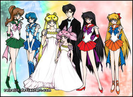 Sailor Senshi Colored by reirei18