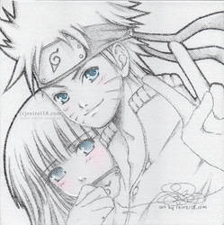[Naruto] with Hinata on canvas