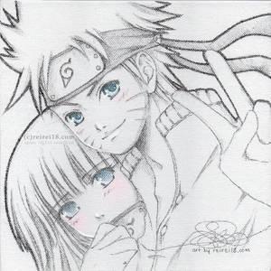 [Naruto] with Hinata on canvas