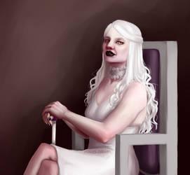 White queen by SkittishSheena