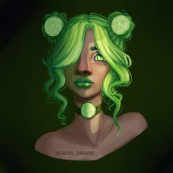 Lime Girl by SkittishSheena