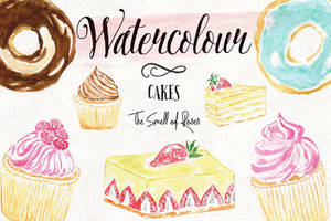 Watercolor-cakes-cover by thesmellofroses