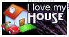 stamp: I love my house