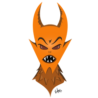 Orange Horned Monster