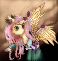 Fluttershy in the crown V2 by KlalaskaXD