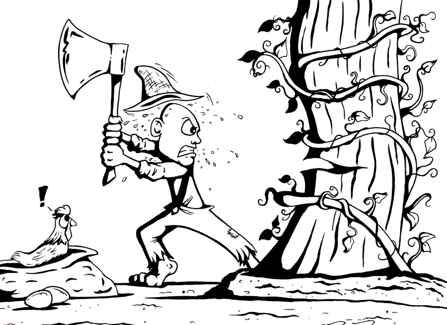Bkfb jack and the beanstalk by philrood on deviantart for Jack and the beanstalk coloring page