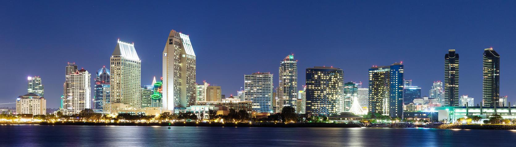 San Diego Downtown Skyline by quintz