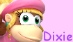 Dixie Kong stamp by Lady-Zephyrine