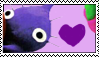 Purple Pikmin Stamp by Twin-Cats