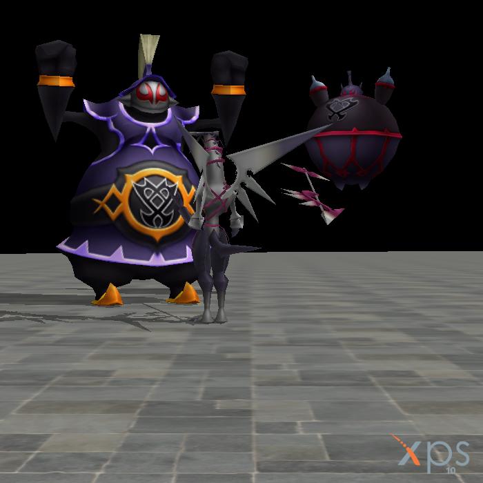 Dragoon battling against the Nightmare Beasts by Samjoos