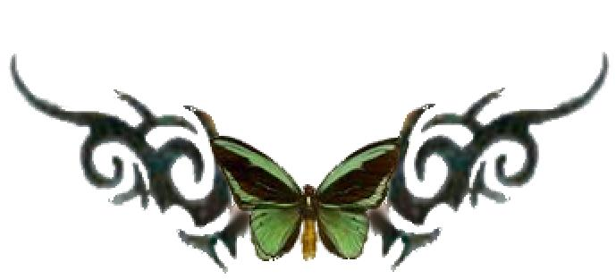 green butterfly tribal tattoo by ivory buttons on deviantart. Black Bedroom Furniture Sets. Home Design Ideas