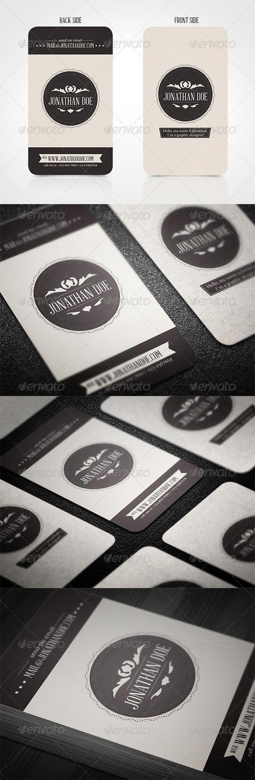 Vintage Business Card by vitalyvelygo
