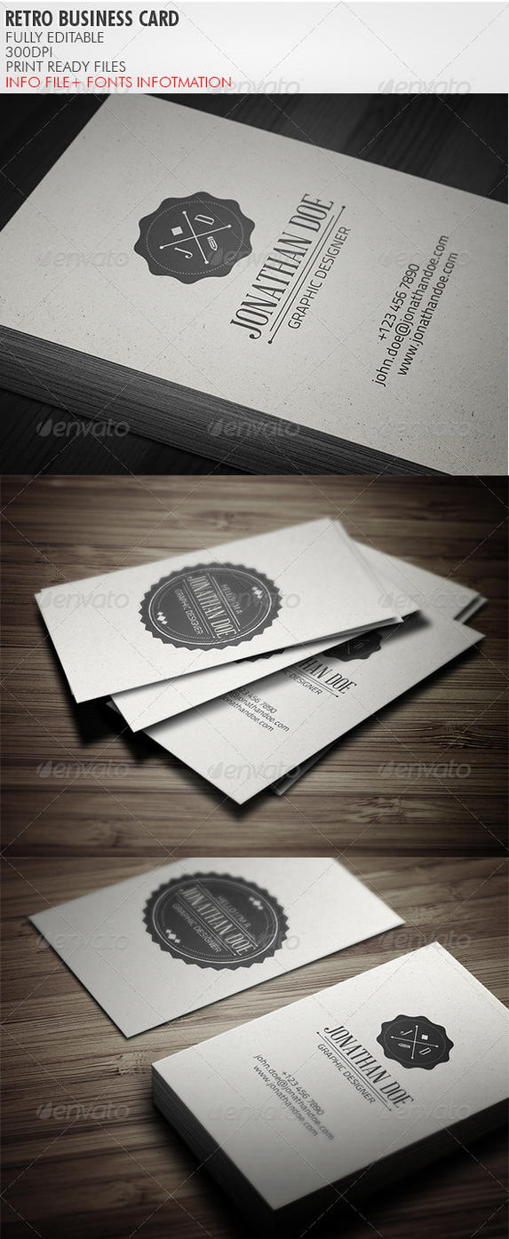 Vintage Business Card by vitalyvelygo on DeviantArt