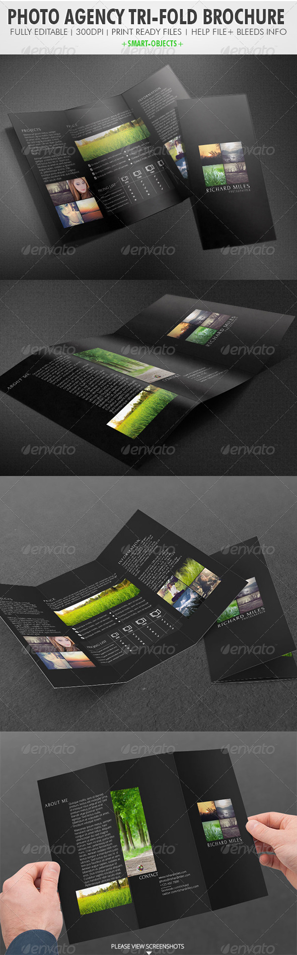Photo Agency Tri-fold Brochure