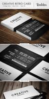 Creative Retro Business Card by vitalyvelygo