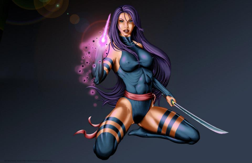 Psylocke by mikerenzine