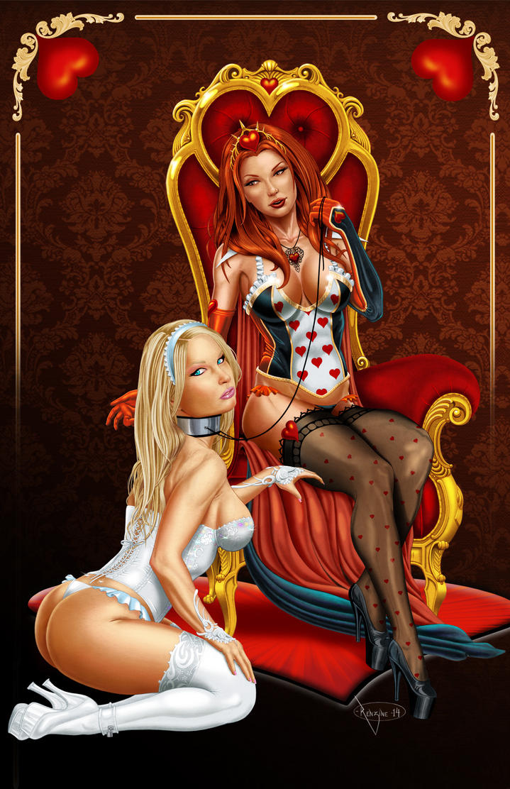 Alice Queen of Hearts color by mikerenzine