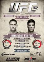 UFC 175 : Chris Weidman VS Lyoto Machida by LilouFranchise