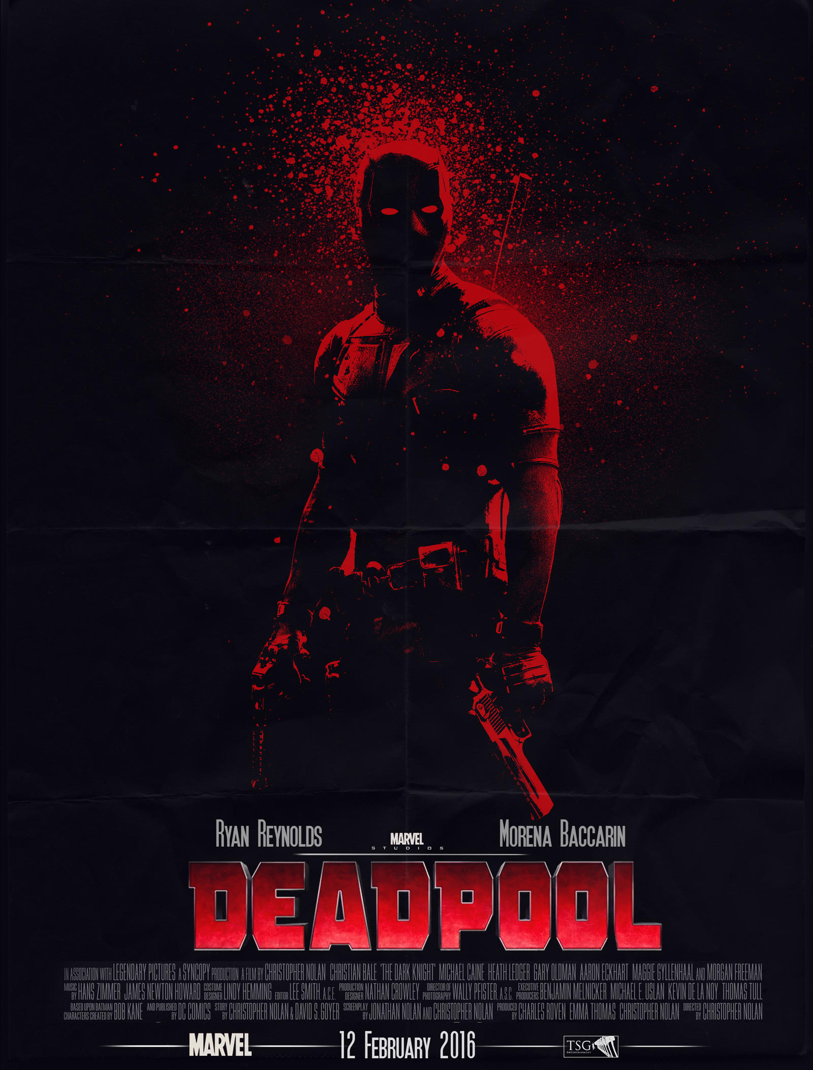 Custom Deadpool movie poster by LilouFranchise on DeviantArt