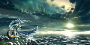 Rainbow Dash - Stormy Morning by Pyrestorm