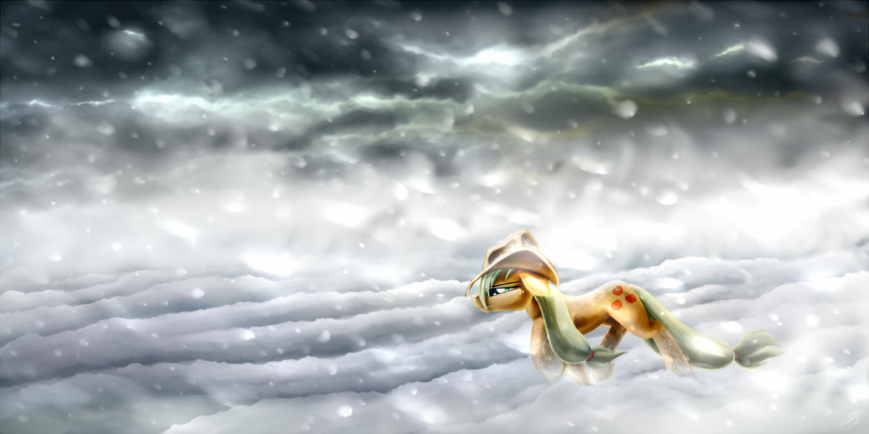 AJ in the Snow by Pyrestorm