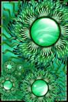 Sun Flowers in a Green World