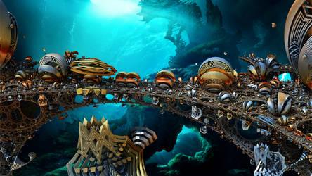 Underwater Alien Amusement Park