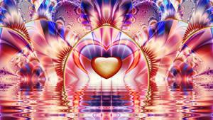 Rainbow Heart ~ UF Chain Pong 1275