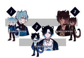 [closed-ty!] adoptable auction #1-3 (ab added) by dorkcoffee