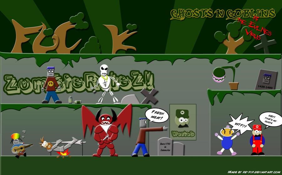Ghosts n Goblins- evilNes by re-pip