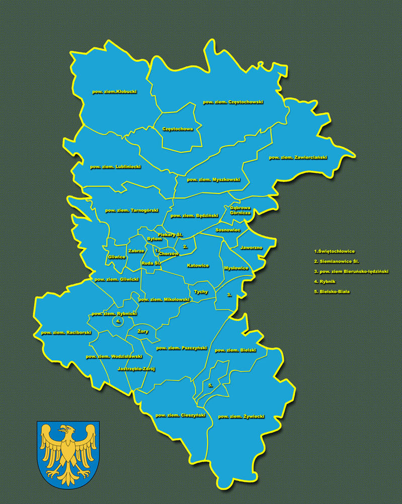 woj. Slaskie mapa by re-pip