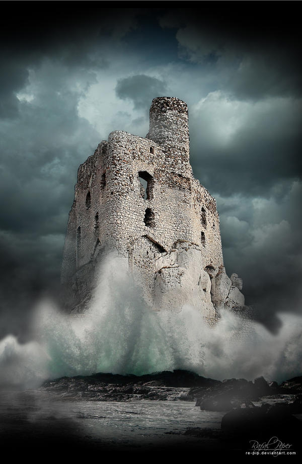 Returning to shore (Castle in Mirow) by re-pip