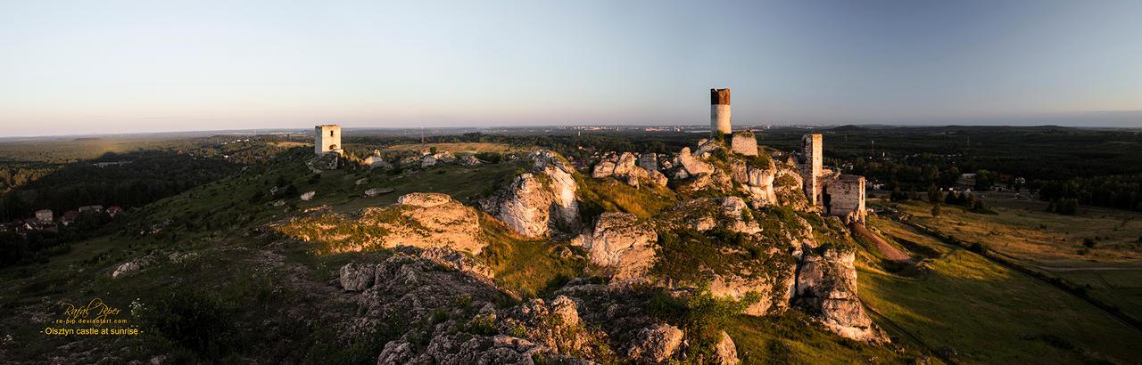 Olsztyn castle at sunrise by re-pip