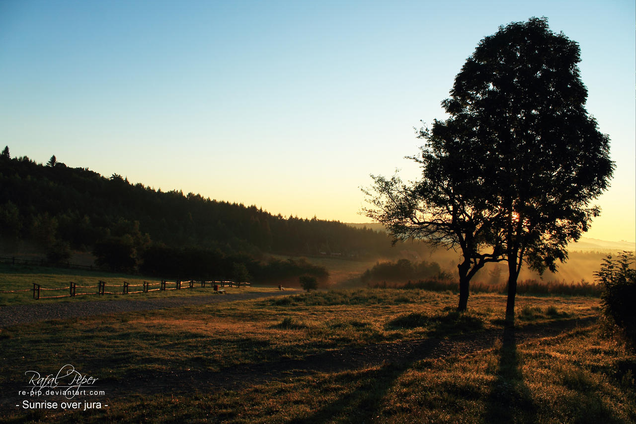 Sunrise over jura 2 by re-pip