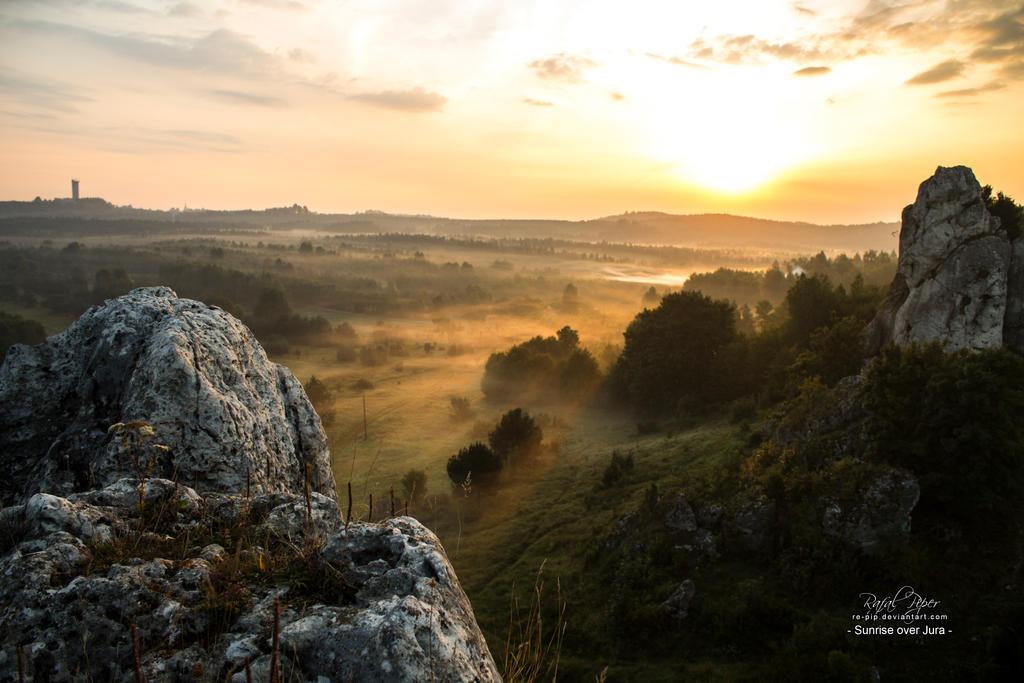 Sunrise over jura 3 by re-pip