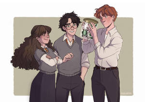 'Oh, yes she is,' said Hermione happily