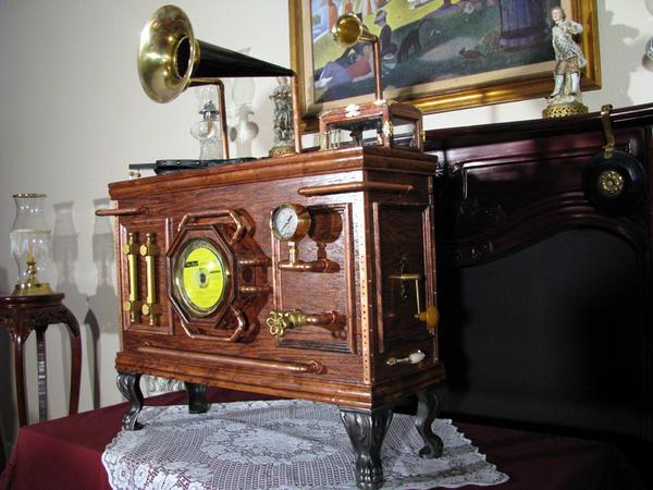 Steampunk CD player 3 by Zuntaras