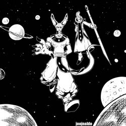 Beerus and Whis by Joojnaldo