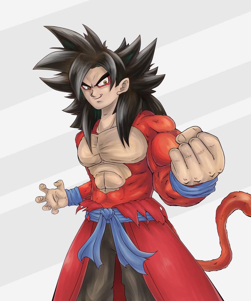 Xeno Goku SSJ4 by Joojnaldo