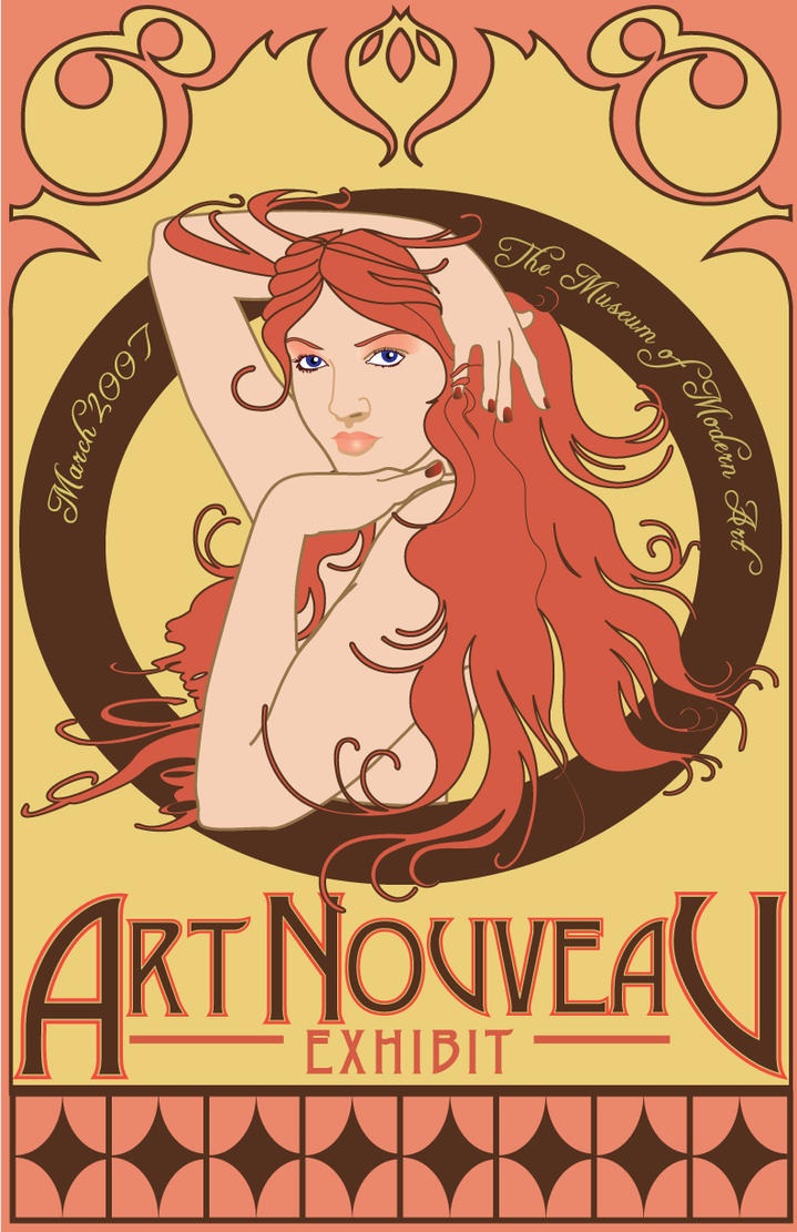 Art nouveau on pinterest alphonse mucha digital - Art deco and art nouveau ...