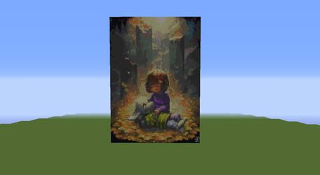 Asriel and Frisk Pixel Art