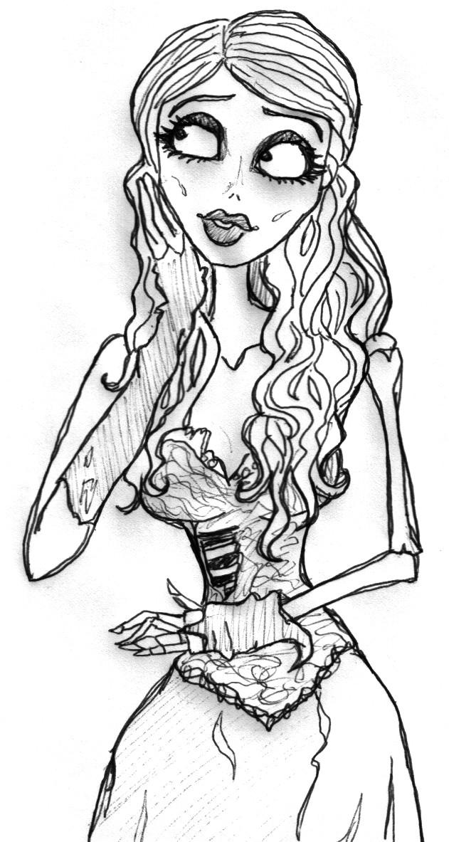 corpse bride coloring pages jack and sally coloring pages