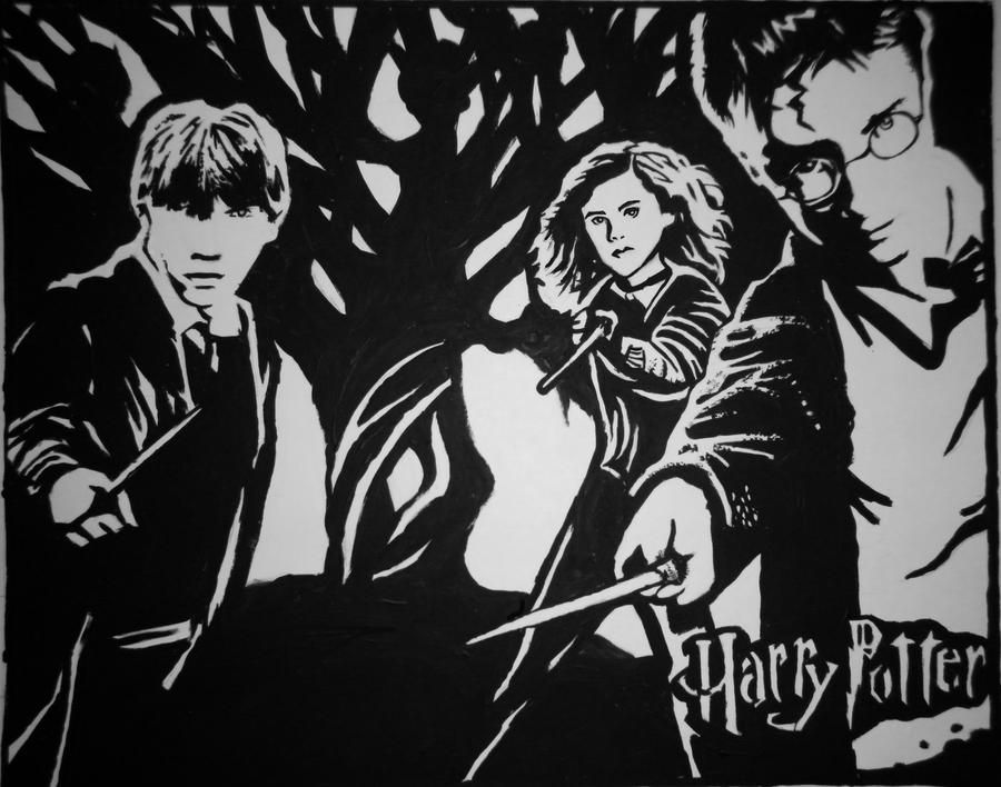 Harry Potter Painting By Smexikitten