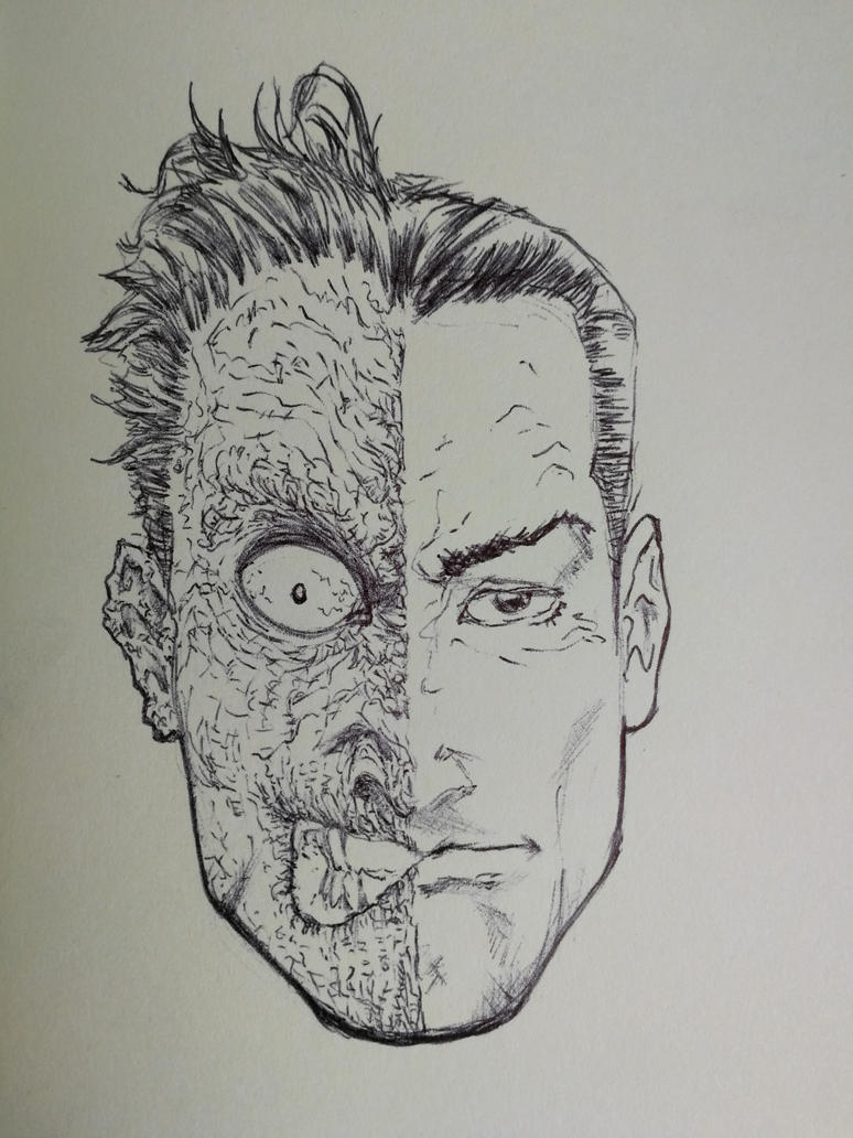 TWO-FACE SKETCH ON MOLESKINE 2 by AgostinoF