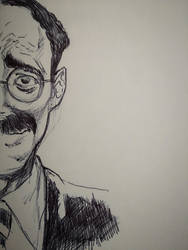 HALF GROUCHO QUICKSKETCH ON MOLESKINE by AgostinoF