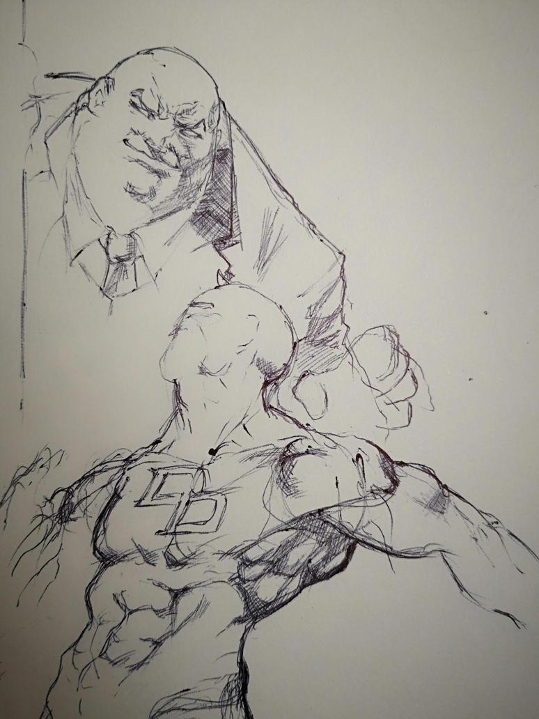 DAREDEVIL SKETCH WIP by AgostinoF