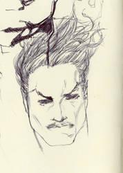 Namor sketch on Molesikine by AgostinoF