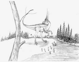 Aristosuchus pusillis by briankroesch
