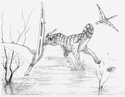 Acrocanthosaurus atokensis by briankroesch